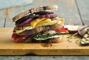 Grilled Vegetables and Goat Cheese Sandwiches