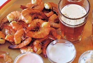 Shrimp with Three Dipping Sauces