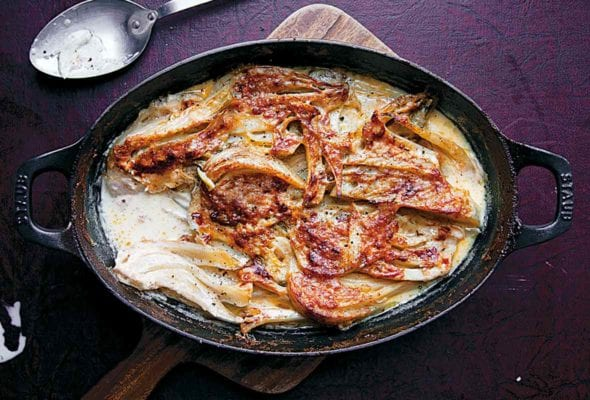 Fennel Baked in Cream