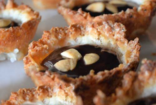 Chocolate-Coconut Macaroon Pies