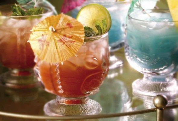 Mai Tai and Blue Hawaiian Cocktails