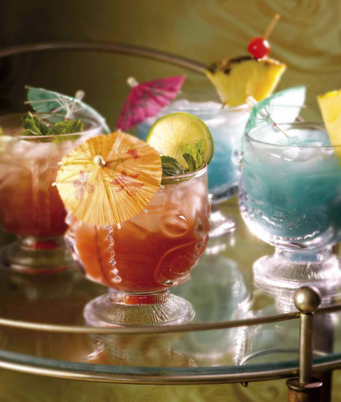 Mai Tai and Blue Hawaiian Cocktails