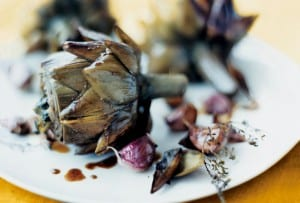 Braised Artichokes with Garlic and Thyme