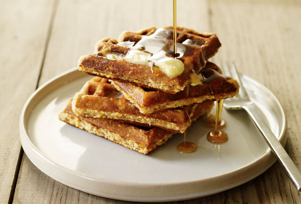 Cornmeal and Oat Waffles
