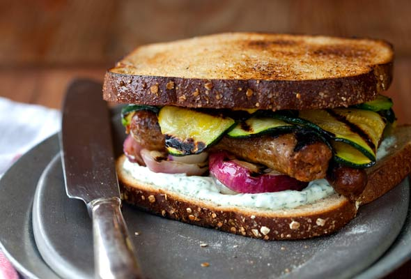 Grilled Sausage Sandwich