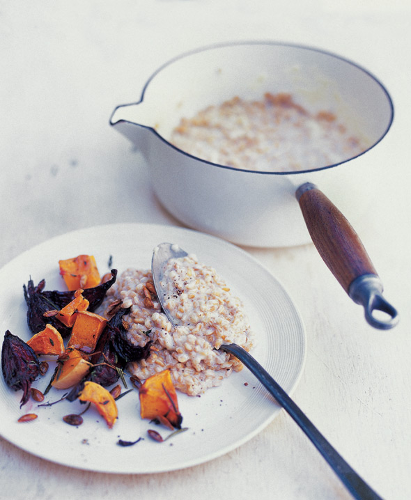 Whole Spelt Risotto with Butternut Squash