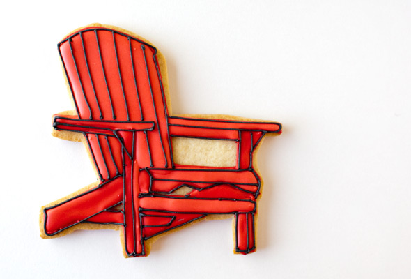Adirondack Chair Cookie