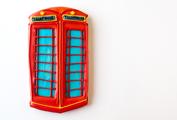 British Telephone Booth Cookie
