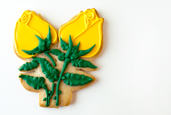 Yellow Roses Cookie