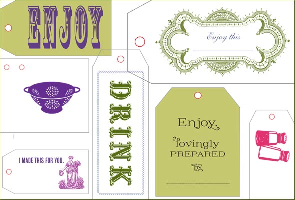 Leites Culinaria Holiday Gift Tags