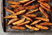 A tray of breakfast oven fries