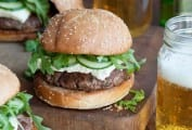Lamb Burgers with Arugula and Feta