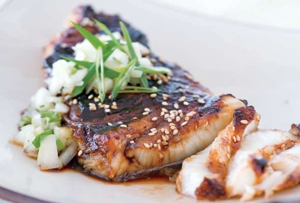 Sea Bass with Soy Glaze