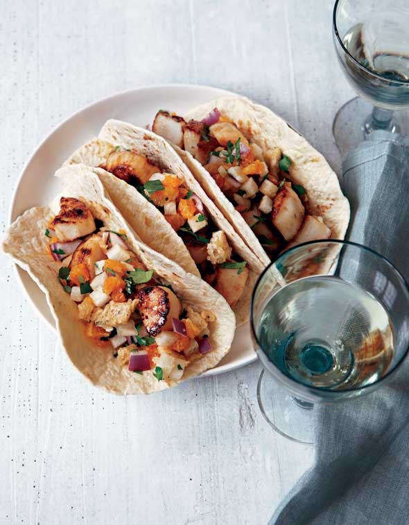 Tacos with Sea Scallops