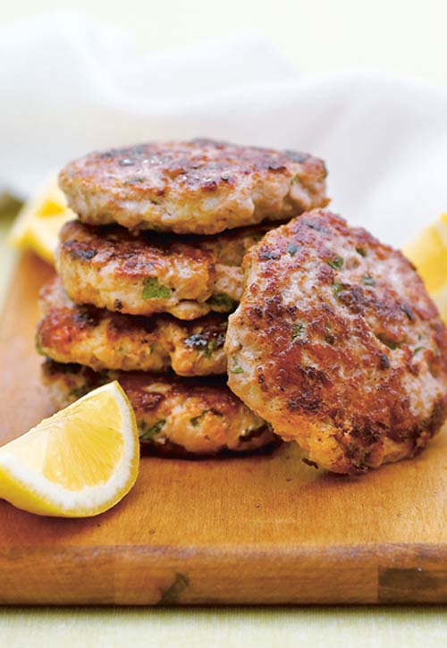 Turkey Burgers with Lemon and Mint