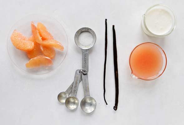 Grapefruit and Vanilla Panna Cotta
