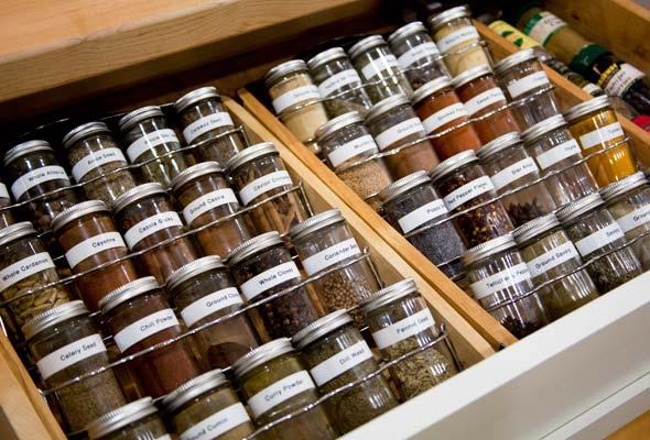 Kitchen Drawer Spice Organizers Complete kitchen remodel leites culinaria spice drawer workwithnaturefo