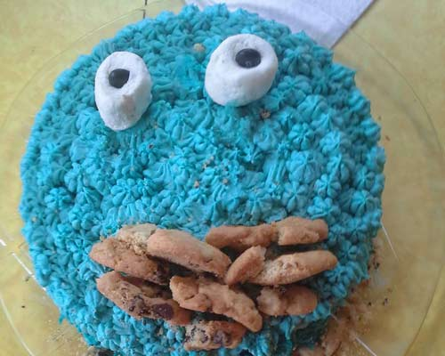 How To Make A Cookie Monster Cake House Cookies