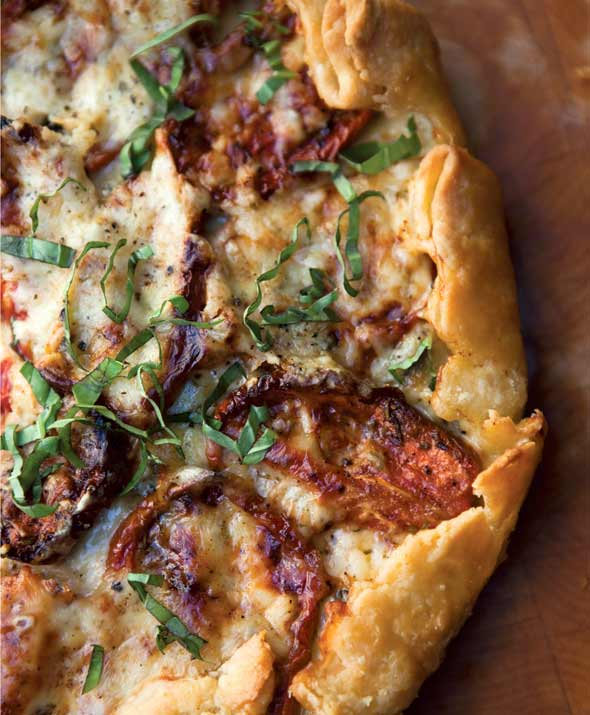 Roasted Tomato Basil Tart