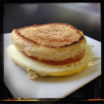 Homemade Breakfast Sandwich