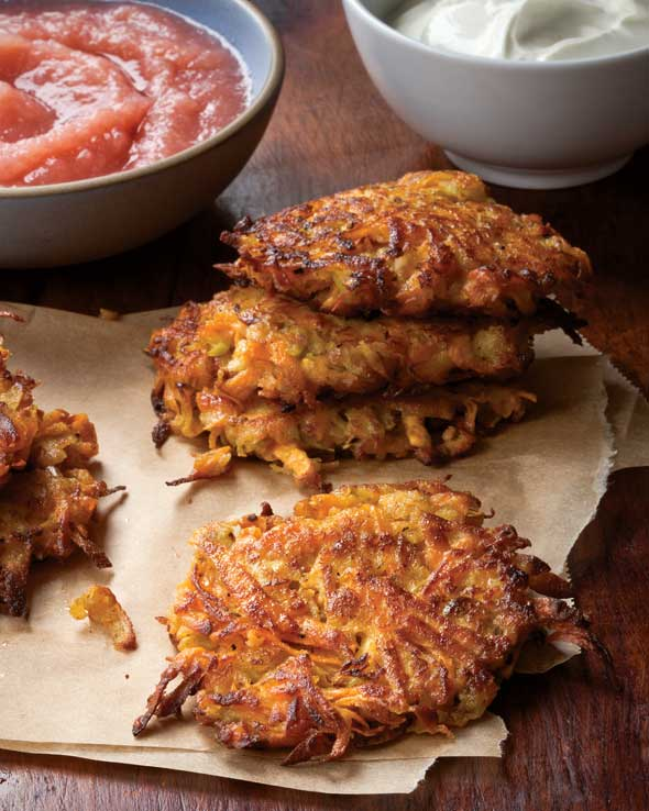 Sweet Potato Apple Latkes