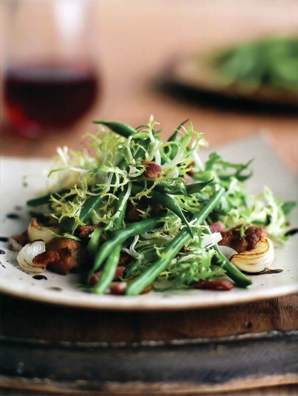 Haricots Verts with Frisée and Bacon