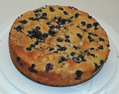 Blueberry Almond Torta
