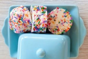 Butter with Colored Sprinkles