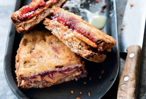 Deep-Fried Peanut Butter and Jelly Sandwiches