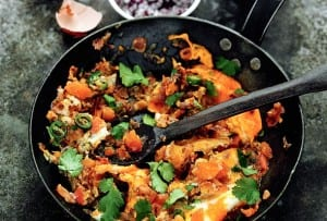 Spicy Indian Scrambled Eggs