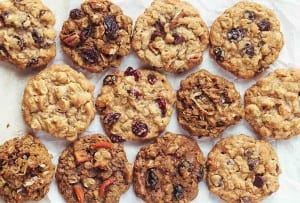 Twelve best oatmeal cookies, each with varied fillings