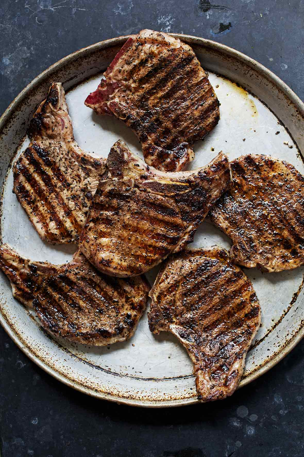 Coffee Crusted Grilled Pork Chops