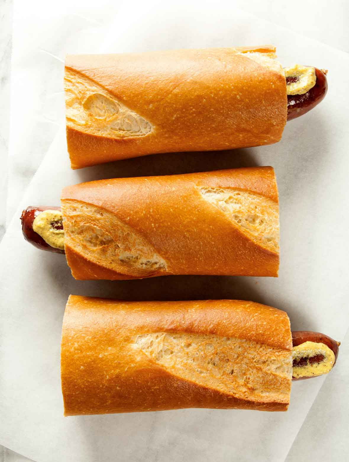 Hot Dog on a Baguette