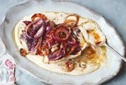 White Bean Puree with Radicchio and Red Onions