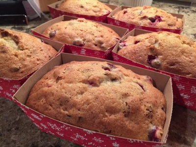Cranberry Orange Pecan Bread Recipe