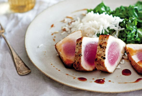 Seared Tuna with Sweet and Sour Sauce