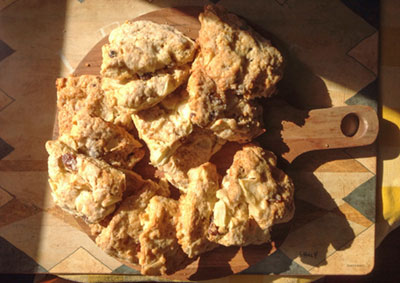 Apple and Cheddar Cheese Scones Recipe