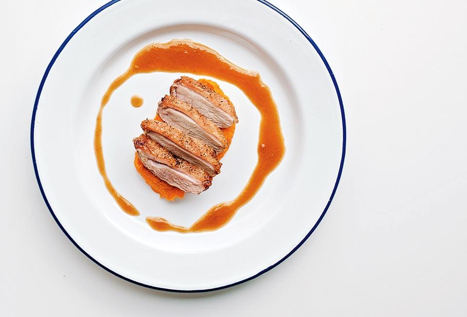 Pan Seared Duck Breast With Maple Bourbon Sauce