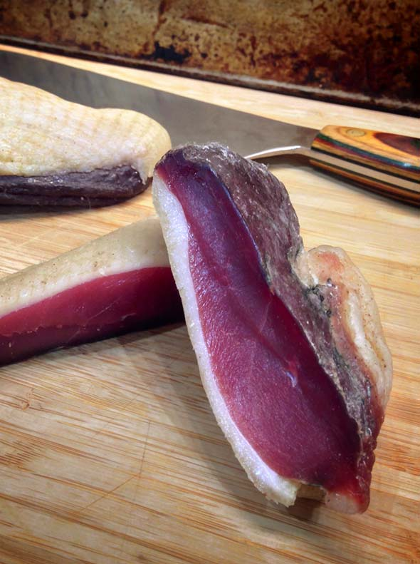 Sliced Duck proscuitto