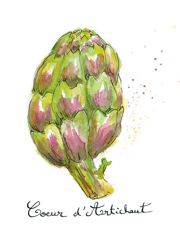 Edible French Avoir un Coeur d'Artichaut