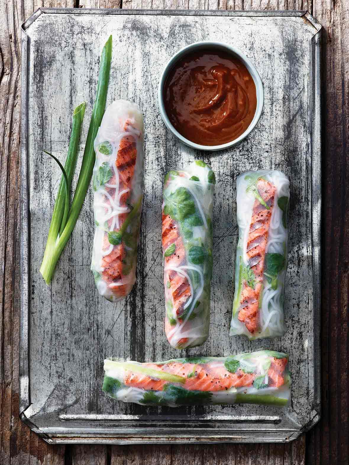 Salmon Summer Rolls