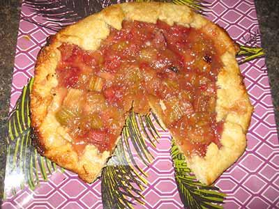 Rhubarb Crostada Recipe