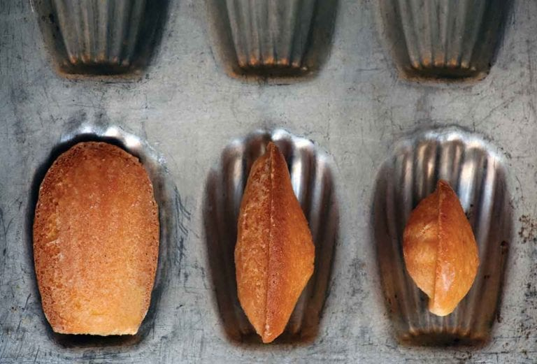 Orange Madeleines with Orange Glaze