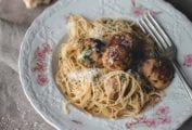 Turkey Meatballs with Angel Hair Pasta
