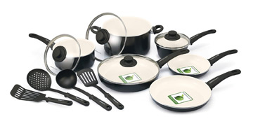 Green Life 14-Piece Cookware Set
