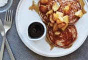 Rye Pancakes Recipe with Maple Pears