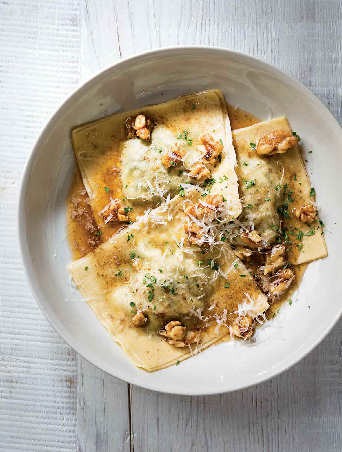 Ravioli with Bitter Greens