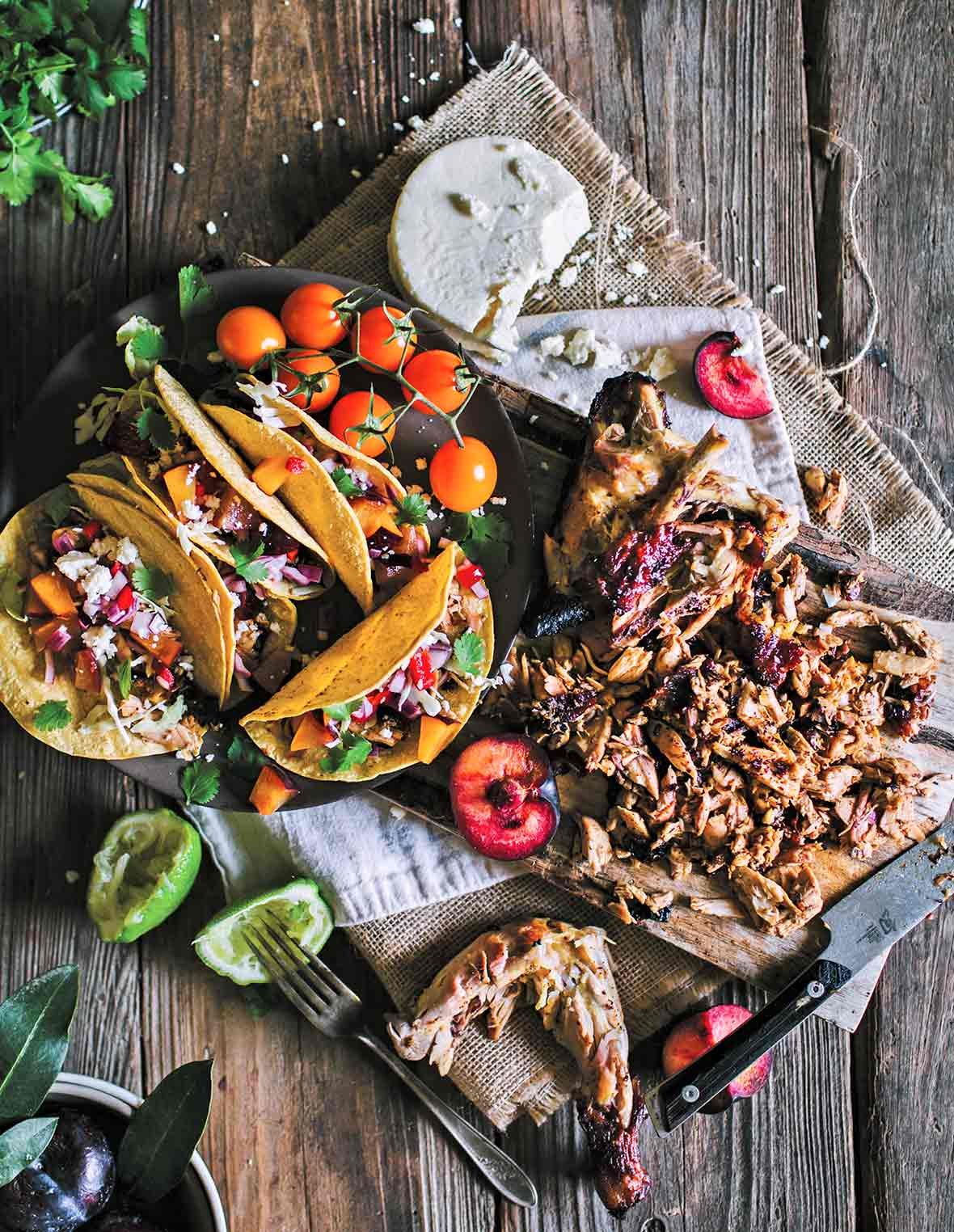 Grilled Chicken Tacos with Fruit Salsa