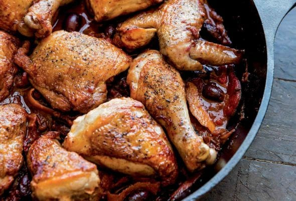 Chicken With Olives Orange