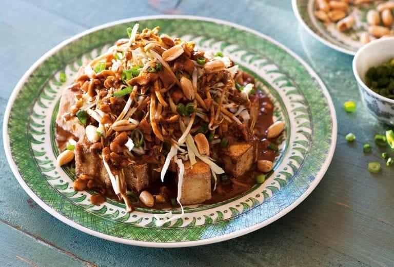 Fried Tofu with Peanuts